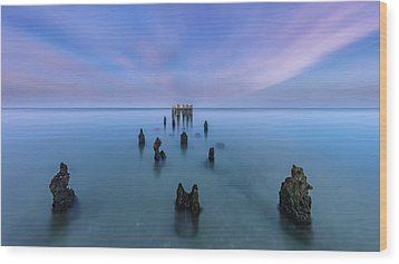 Wood Print featuring the photograph Sunrise Symmetry by Mike Lang