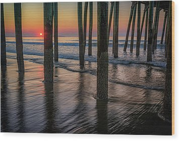 Wood Print featuring the photograph Sunrise Under The Pier by Rick Berk