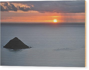 Wood Print featuring the photograph Sunrise View by Amee Cave