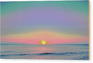 Sunrise With Digits Wood Print by Cloe Couturier