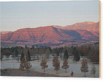 Sunrise3 Wood Print by Deon West