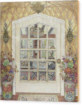 Sunroom Entrance Wood Print by Bonnie Siracusa