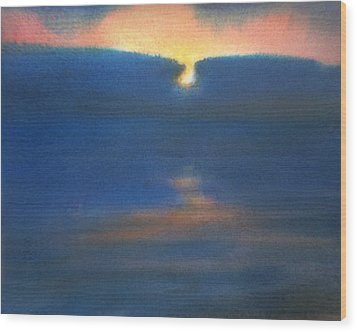 Wood Print featuring the painting Sunset 1 by Valeriy Mavlo