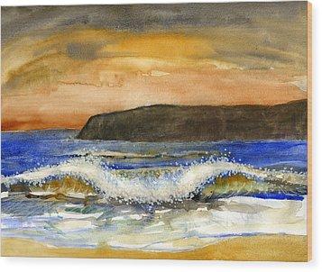 Sunset #20 Coronado Wood Print