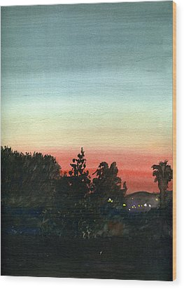 Sunset #26 Lemon Grove Wood Print