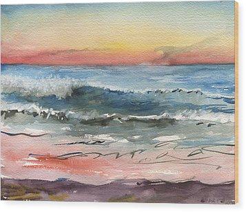 Sunset 39 Imperial Beach Wood Print
