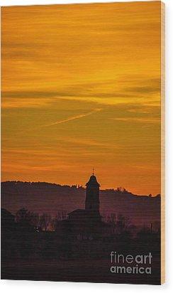Sunset 6 Wood Print by Jean Bernard Roussilhe