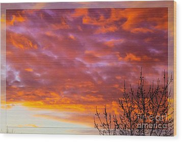 Sunset 7 Wood Print by Jean Bernard Roussilhe
