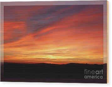 Sunset 9 Wood Print by Jean Bernard Roussilhe