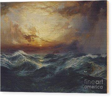 Sunset After A Storm Wood Print