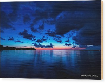 Wood Print featuring the photograph Sunset After Glow by Christopher Holmes