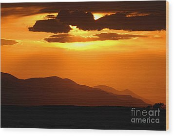 Wood Print featuring the photograph Sunset Along Colorado Foothills by Max Allen