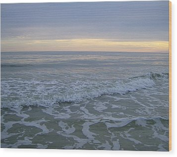 Sunset Along Oak Island Wood Print