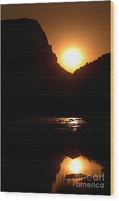 Wood Print featuring the photograph Sunset Along The Yampa River by Max Allen