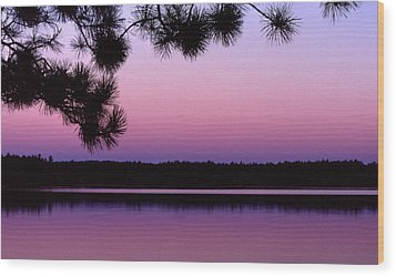 Wood Print featuring the photograph Sunset And Pine 2 by Lyle Crump