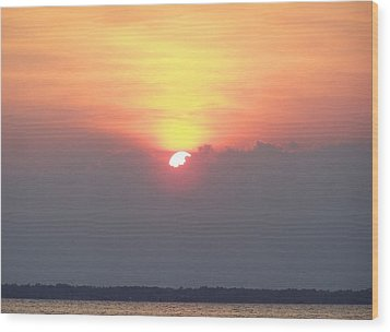 Wood Print featuring the photograph Sunset And The Storm by Sandi OReilly