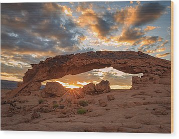 Sunset Arch Wood Print by Johnny Adolphson