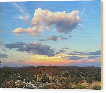 Sunset At Alice Springs #2 Wood Print