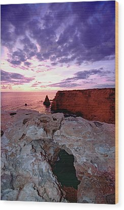 Sunset At Cabo Rojo Wood Print by George Oze