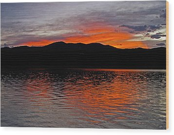 Sunset At Carter Lake Co Wood Print by James Steele