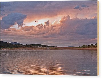 Sunset At Carter Lake Colorado Wood Print by James Steele