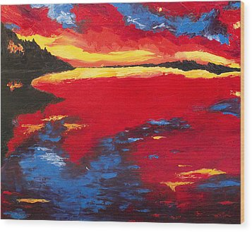 Sunset At Degray Wood Print by Beth Lenderman