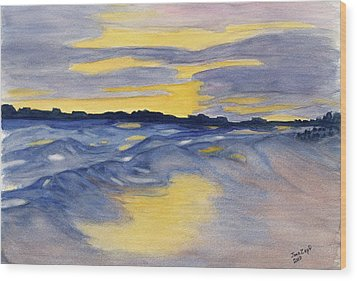 Sunset At Fripp Wood Print