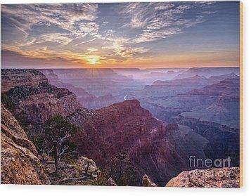 Sunset At Grand Canyon Wood Print