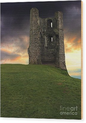 Sunset At Hadleigh Castle Wood Print