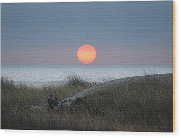 Sunset At Halfmoon Bay Wood Print