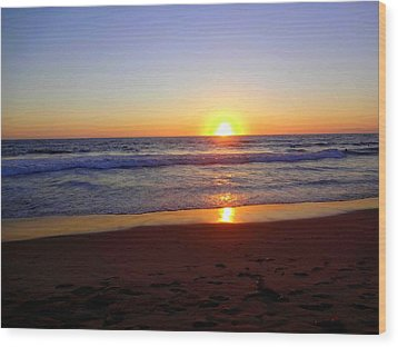 Sunset At Hermosa Wood Print