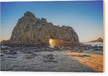Sunset At Hole In The Rock Wood Print by James Hammond