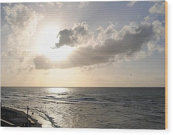 Sunset At Jaffa Beach 17 Wood Print by Isam Awad