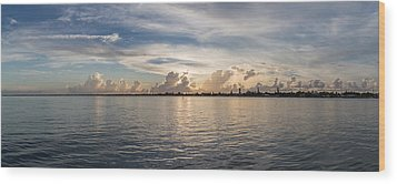 Sunset At Key Largo Wood Print by Christopher L Thomley