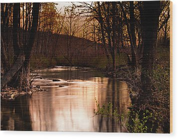 Sunset At King's River Wood Print by Tamyra Ayles