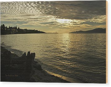 Sunset At Kitsilano Wood Print by Tom Buchanan