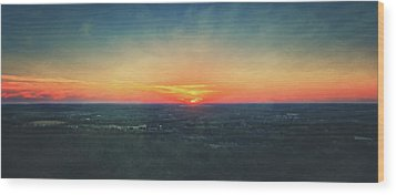 Wood Print featuring the photograph Sunset At Lapham Peak #3 - Wisconsin by Jennifer Rondinelli Reilly - Fine Art Photography