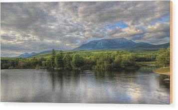 Sunset At Mt. Katahdin Wood Print by Lori Deiter