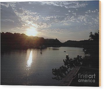 Sunset At Occoquan Wood Print