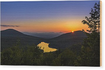 Sunset At Owls Head Wood Print by Tim Kirchoff