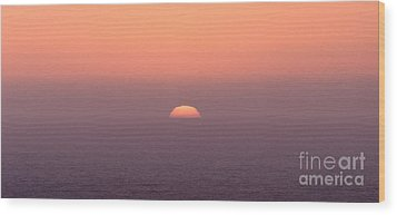 Sunset At Pacifica Wood Print