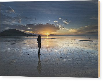 Wood Print featuring the photograph Sunset At Phuket Island by Ng Hock How