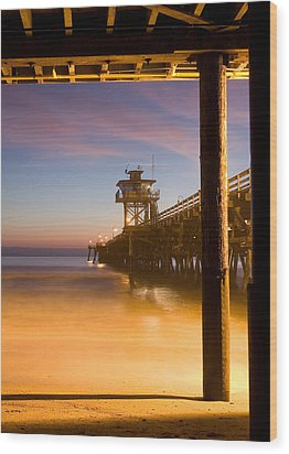 Sunset At San Clemente Wood Print by Cliff Wassmann