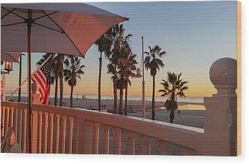 Sunset At Shutters Wood Print by Mark Barclay