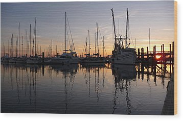Wood Print featuring the photograph Sunset At St. Marys by Joel Deutsch