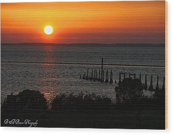 Wood Print featuring the photograph Sunset At St.marks Nwf by Barbara Bowen