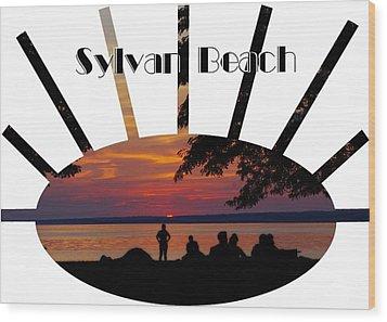 Sunset At Sylvan Beach - T-shirt Wood Print