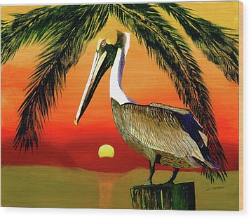 Sunset At The Beach Wood Print by William Demboski