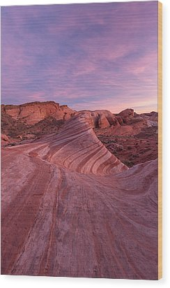 Wood Print featuring the photograph Sunset At The Fire Wave by Patricia Davidson