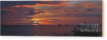 sunset at White Beach Wood Print by Joerg Lingnau